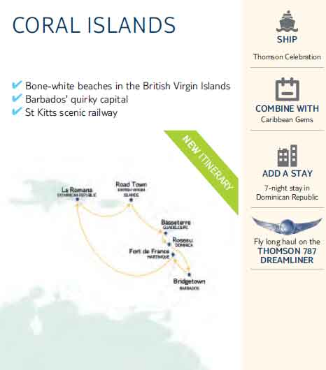 Coral Islands Cruise Map