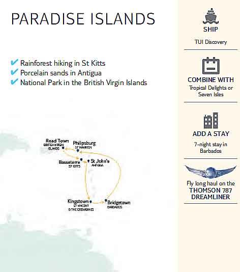 Paradise Islands Map