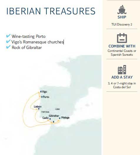 Iberian Treasures Map