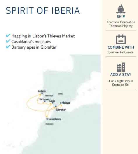 SPIRIT OF IBERIA MAP