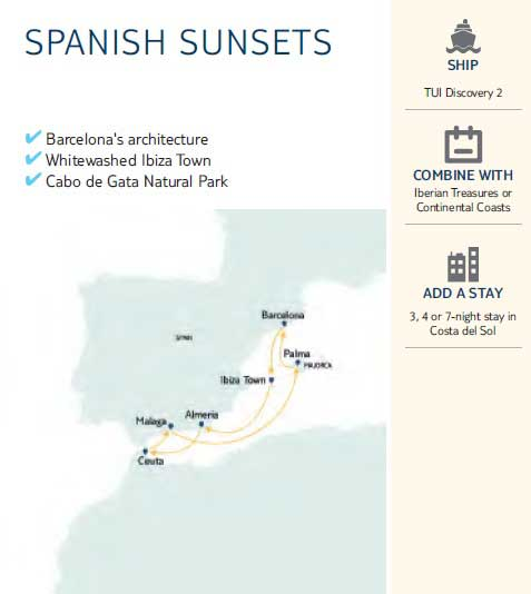 Spanish Sunsets Map
